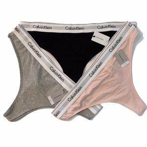 Calvin Klein SpellOut Logo Modern Cotton Thong